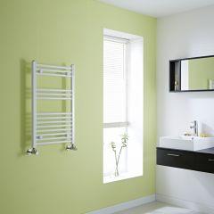 Milano Calder - Flat White Heated Towel Rail - 800mm x 500mm