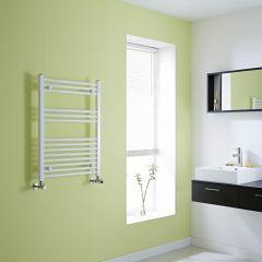 Milano Calder - Flat White Heated Towel Rail - 800mm x 600mm