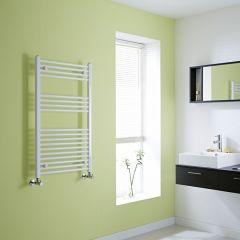 Milano Calder - Flat White Heated Towel Rail - 1000mm x 600mm
