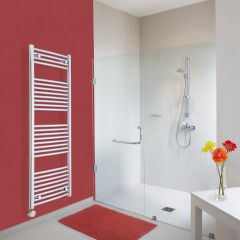 Milano Ribble Electric - Chrome Curved Heated Towel Rail - 1500mm x 500mm