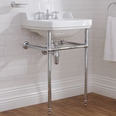 Old London Richmond - Traditional 3 Tap-Hole Basin and Washstand - 560mm