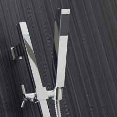 Milano Square Shower Slide Rail Kit