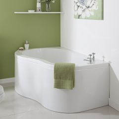 Milano Nuvo - 1500 x 1000mm Corner Bath and Panel - Left Hand