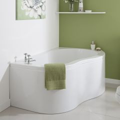 Milano Nuvo - 1500 x 1000mm Corner Bath and Panel - Right Hand