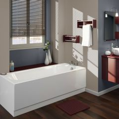 Milano - 1600 x 700mm Round Single Ended Bath
