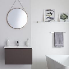 Milano Oxley - 600mm Modern Vanity Unit with Basin - Matt Grey