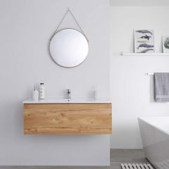 Milano Oxley - 1000mm Modern Vanity Unit with Basin - Golden Oak