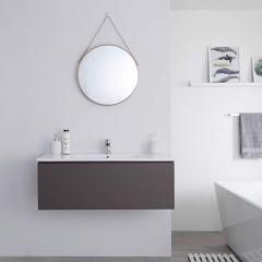 Milano Oxley - 1000mm Modern Vanity Unit with Basin - Matt Grey