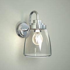 Milano Dochart Curved Glass Bathroom Wall Light