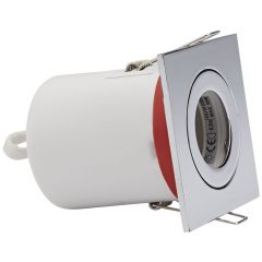 Biard IP20 Fire Rated Tilt Downlight with Removable Bezel - Square