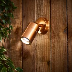 Biard Le Mans IP44 Adjustable Outdoor Wall Light - Copper