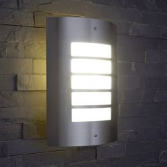 Biard Orleans Outdoor Wall Light - Brushed Steel