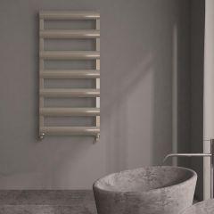 Milano Passo - Aluminium Designer Heated Towel Rail 1190 x 500mm Brushed Chrome
