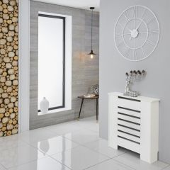 Milano Elstree - White Radiator Cabinet - 820mm x 780mm