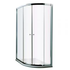 Milano Hutton Complete Offset Quadrant Shower Enclosure With Tray & Waste 1000 x 800mm RH