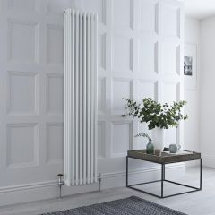 Milano Windsor - Traditional 8 x 3 Column Radiator Cast Iron Style White 1800mm x 383mm