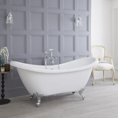 Milano - 1750 x 720mm Double Ended Freestanding Slipper Bath with Choice of Feet
