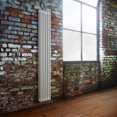 Milano Windsor - Traditional 6 x 3 Column Radiator Cast Iron Style White 1800mm x 290mm