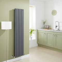 Milano Aruba - Luxury Anthracite Vertical Designer Double Radiator 1600mm x 354mm