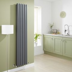 Milano Aruba - Luxury Anthracite Vertical Designer Double Radiator 1780mm x 354mm