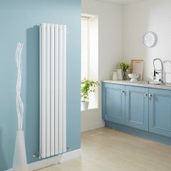 Milano Aruba - Luxury White Vertical Designer Double Radiator 1780mm x 354mm