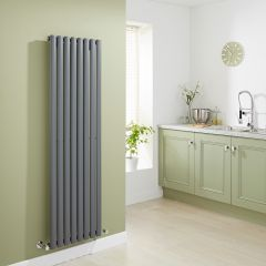 Milano Aruba - Luxury Anthracite Vertical Designer Radiator 1600mm x 472mm