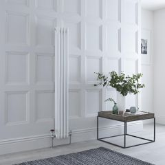 Milano Windsor - Traditional 4 x 3 Column Radiator Cast Iron Style White 1500mm x 200mm