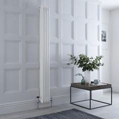 Milano Windsor - Traditional 4 x 3 Column Radiator Cast Iron Style White 1800mm x 200mm