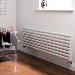 Milano Aruba - Luxury White Horizontal Designer Double Radiator 472mm x 1600mm