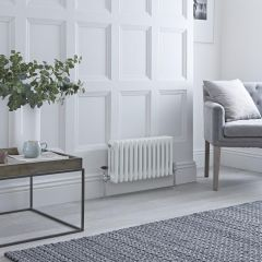 Milano Windsor - Traditional White Horizontal Column Radiator - 300mm x 608mm (Double Column)