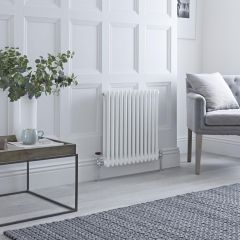 Milano Windsor - Traditional White Horizontal Column Radiator - 600mm x 608mm (Double Column)