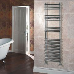 Kudox - Flat Chrome Bar on Bar Towel Rail - 1650mm x 450mm