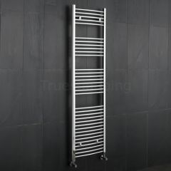 Kudox - Premium Chrome Curved Heated Bathroom Towel Radiator Rail - 1800mm x 500mm