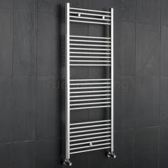 Kudox - Premium Chrome Flat Heated Bathroom Towel Radiator Rail - 1500mm x 600mm
