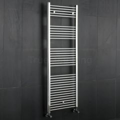 Kudox - Premium Chrome Flat Heated Bathroom Towel Radiator Rail - 1800mm x 600mm