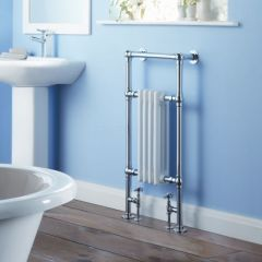 Milano Trent - Traditional Brass Heated Bathroom Towel Radiator 930mm x 491mm