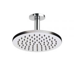 Milano 200mm Round Shower Head and Ceiling Arm (150mm)