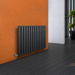 Milano Aruba - Anthracite Horizontal Designer Radiator - 635mm x 834mm (Double Panel)