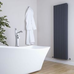 Milano Capri - Anthracite Vertical Flat Panel Double Designer Radiator 1780mm x 472mm