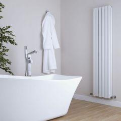 Milano Capri - White Flat Panel Vertical Designer Radiator - 1780mm x 354mm (Double Panel)