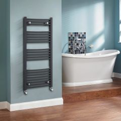 Sterling - Anthracite Curved Heated Towel Rail 500mm x 1150mm