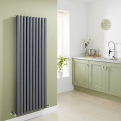 Milano Aruba - Anthracite Vertical Designer Radiator 1600mm x 590mm (Double Panel)