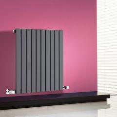 Milano Capri - Anthracite Flat Panel Horizontal Designer Radiator - 635mm x 600mm