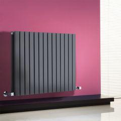 Milano Capri - Anthracite Flat Panel Horizontal Designer Radiator - 635mm x 834mm (Double Panel)