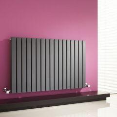 Milano Capri - Anthracite Flat Panel Horizontal Designer Radiator - 635mm x 1000mm (Double Panel)