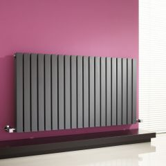 Milano Capri - Anthracite Horizontal Flat Panel Designer Radiator 635mm x 1180mm (Double Panel)