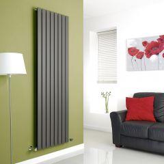 Milano Alpha - Anthracite Flat Panel Vertical Designer Radiator - 1780mm x 560mm (Double Panel)
