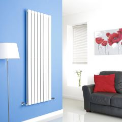 Milano White Vertical Double Slim Panel Designer Radiator 1600mm x 560mm