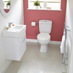 Premier Checkers White Cloakroom Suite