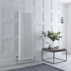 Milano Windsor - Traditional White 3 Column Radiator 1500mm x 563mm (Vertical)